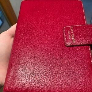 Kate Spade agenda planner red snap large